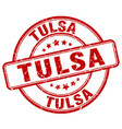 Tulsa stamp vector image