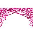 falling heart confetti vector image vector image