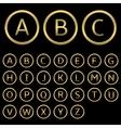 Golden letters vector image