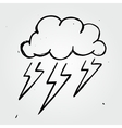 storm cloud hand drawn vector image