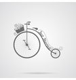 Gray Wedding Retro Bicycle Flat Icon vector image