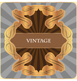 gold vintage label vector image