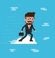 businessman ride cloud vector image