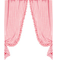 Checked curtain vector image