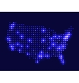 Dotted night map USA vector image