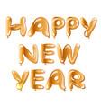 metallic gold balloon happy new year vector image
