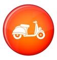 Motorbike icon flat style vector image
