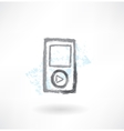 music player grunge icon vector image