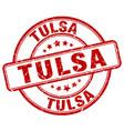 Tulsa stamp vector image