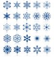 snowflake shapes vector image vector image