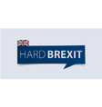 Hard Brexit banner template isolated vector image