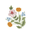 floral decorative card vector image