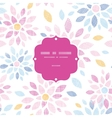 Abstract textile colorful flowers frame seamless vector image