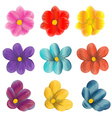 set of flower graphics vector image
