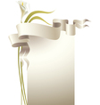 lily with ribbon vector image