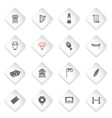 Theatre simply icons vector image