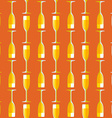 colored champagne glass seamless pattern vector image