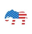Elephant as a Symbol of American Republicans vector image