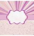 Retro Sun Burst Pattern Card vector image