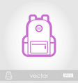 backpack outline icon travel summer vacation vector image