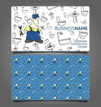 business card plumber vector image