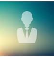 Businessman in flat style icon vector image