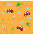 Cartoon cars seamless pattern Template for design vector image