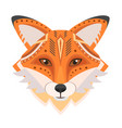 fox head logo decorative emblem vector image