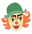 funny smiling clown vector image
