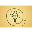 idea concept - sketch bulb vector image