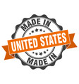 made in united states round seal vector image
