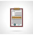 Medical history flat icon vector image