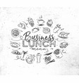 monogram business lunch vector image