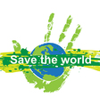 save world concept vector image
