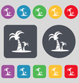 paml icon sign A set of 12 colored buttons Flat vector image