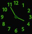 Abstract neon clock vector image