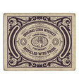 old engraving label vector image