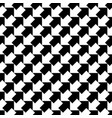 seamless black and white arrows pattern vector image