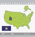 utah flag and map vector image
