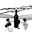 California vineyard vector image vector image