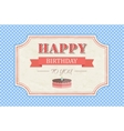 Vintage happy birthday card vector image