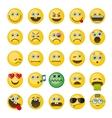 Emoji emoticons icons set vector image