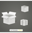 Empty box on a grey background A vector image vector image
