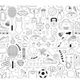 Doodle sports elements vector image