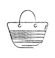 figure fashion purse to be in the beach vector image
