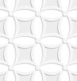 Geometric white and gray pattern with pointy vector image