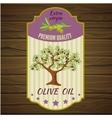 Olive Label On Wood vector image