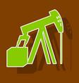 paper sticker on theme arabic business oil derrick vector image