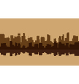 Silhouette of old buildings lined vector image