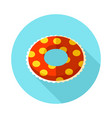 swimming circle on water icon summer vacation vector image